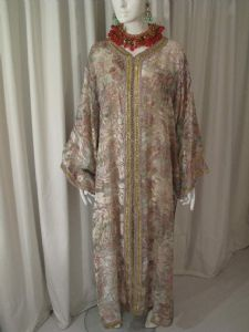 1970's Devore vintage kaftan with wirework trim **SOLD**